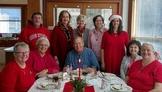 Staff Christmas Table